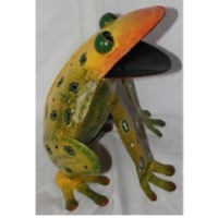Multicolor Frog With Candle Holder