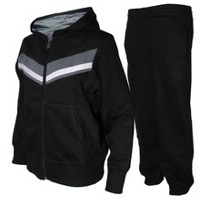 Gym Suit With Zipper Up Hoodie