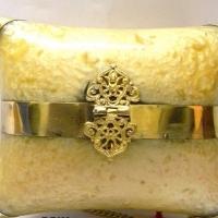 Pillow Style Resin Golden Clutch Bag