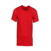 Red Mens Cotton Round Neck T Shirt