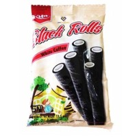 Kita Black Rolls Wafer White Coffee