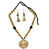 Ethnic Necklace & Earrings Set