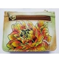Hand Painted Ladies Small Leather Purse