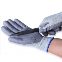 Pu Coating Anti-cut Industrial Gloves