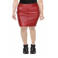 Women Leather Pencil Skirt