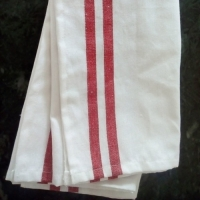 Kitchen Towel - Red Border