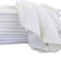 Barmop - Plain Terry White Towel
