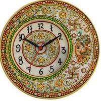 Marble Handicraft Round Wall Clocks