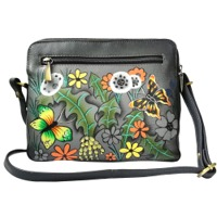 Women's Hand Painted Leather Shoulder Handbag