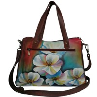 Women's hand Painted Tote Shoulder Bag