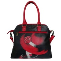 Women's Leather Hand Painted Shoulder Handbag