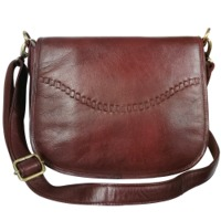 Leather Sling Crossbody Handbag