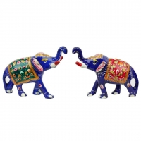 Brass Elephant Pair Handicraft
