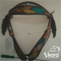 Tooled And Painted Headstall