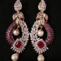 American Diamond Earring From India