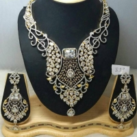 American Diamond Necklace From India