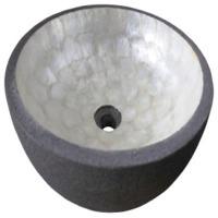 Wash Basin Round Lava With Capiz