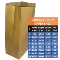 Square Bottom Paper Bag (grocery Bags)