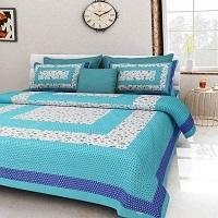 Jaipuri Printed Double Bedsheet