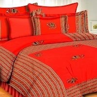 Traditional Rajasthani Patch Work Bedsheet