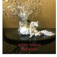Golden Radhey Krishna Tree