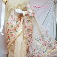 title='Kota Doria Screen Printed Saree'