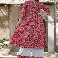 Cotton Kurti Plazzo Set