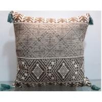 Printed Cushion With Tassels