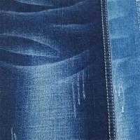 Blue Slub TR Denim Fabric For Jeans