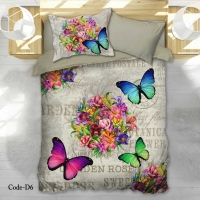 Bedding Set Butterflies Single 4pcs