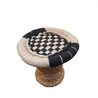Round Seater Chequred Medium