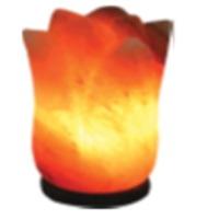 Carved Flower Salt Lamp