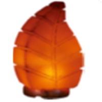Himalayan Rock Salt Leaf Table Lamp