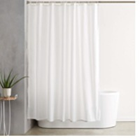 Solid Dobby Texture Shower Curtain
