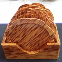 Wooden Coconut Coaster