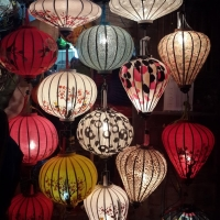 Vietnamese Handing Decoration Silk Lantern