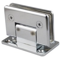 Adjustable shower door hinges