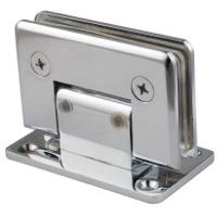 Adjustable shower door hinges