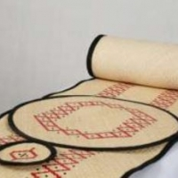 Rattan Table Runner Set