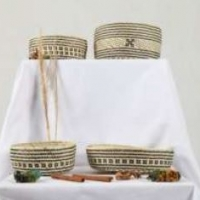 Round Basket Set With Pattern