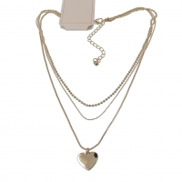 Heart Pendant Chain Necklace