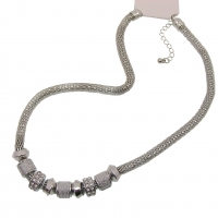 Mesh Chain Charm Necklace