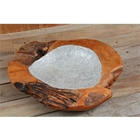 Wooden Bowl With Foil Cover