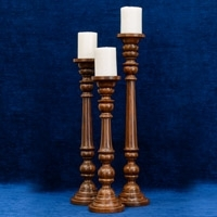 Rosewood Candle Stands